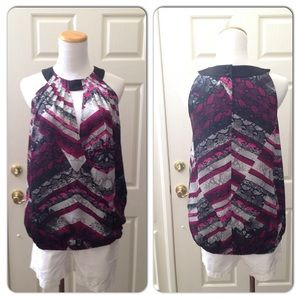 Kenneth Cole Snake Print Blouse NWT